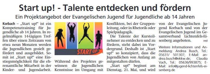 Pressebericht 2019 05 04 WLZ Start Up Kursstart