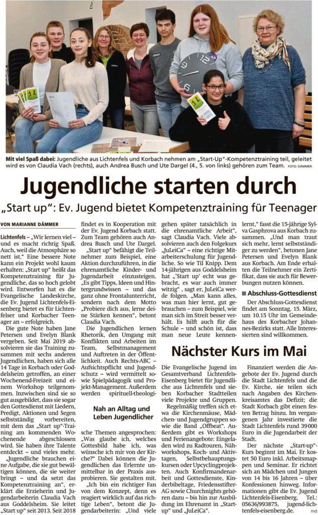 Pressebericht 2020-03-07 WLZ Start Up